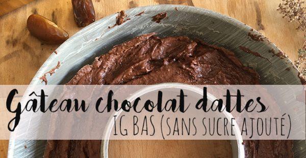 Recette de gâteau chocolat et dattes IG bas