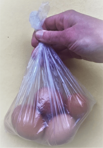 egg in bag