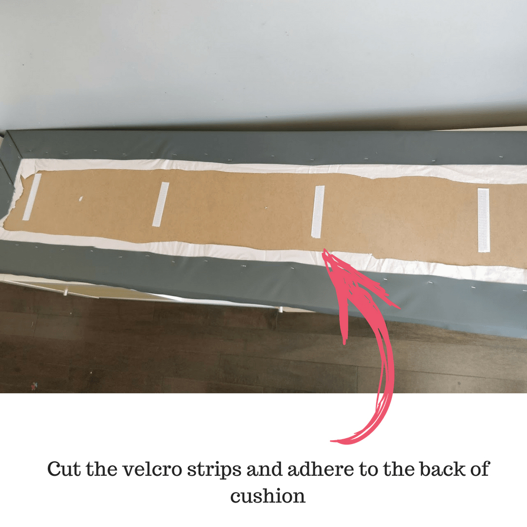 DIY Seating Banquette bench installing foam seat