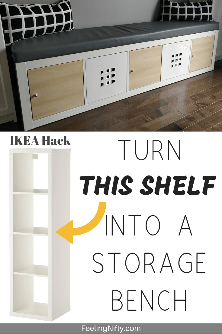 Ikea Kallax Hack Turn Bookshelf Into A Seating Bench With Storage