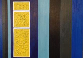 Acrylic Abstract Peaking Sun Wall Art