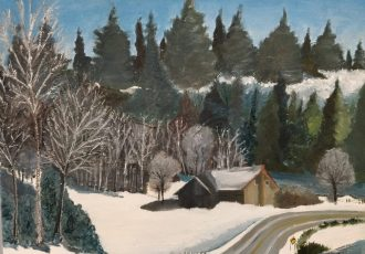 Oil on Canvas - Winter Cabin