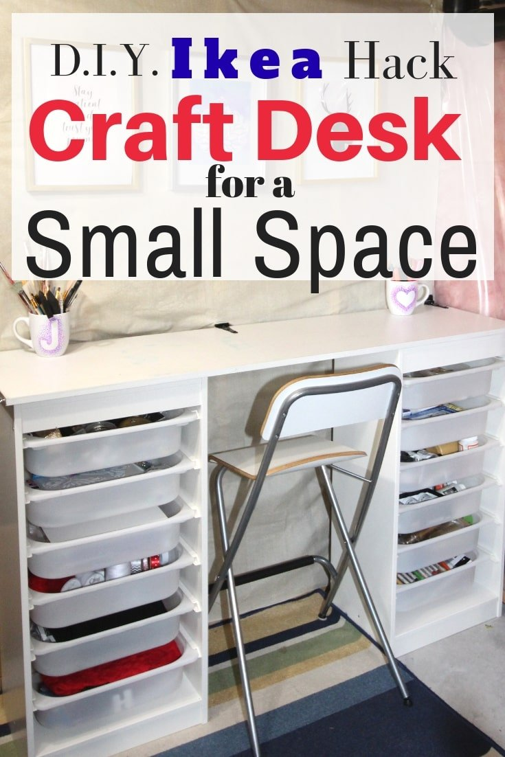 Amazing Ikea Craft Table Hack Made Out Of 2 Storage Shelves