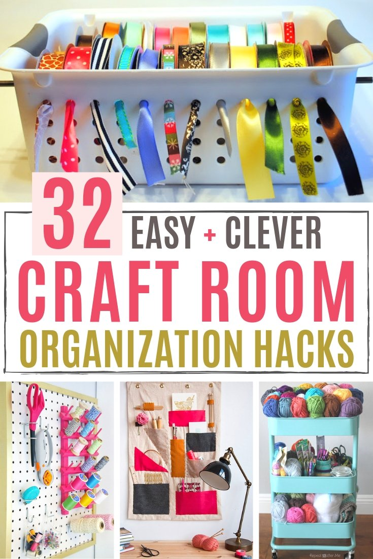 Organize Your Craft Supplies With These Easy 30+ DIY Craft Room Ideas That  Are Both Functional And Perfect For Small Spaces. From Painting Supplies,  Sewing, ...