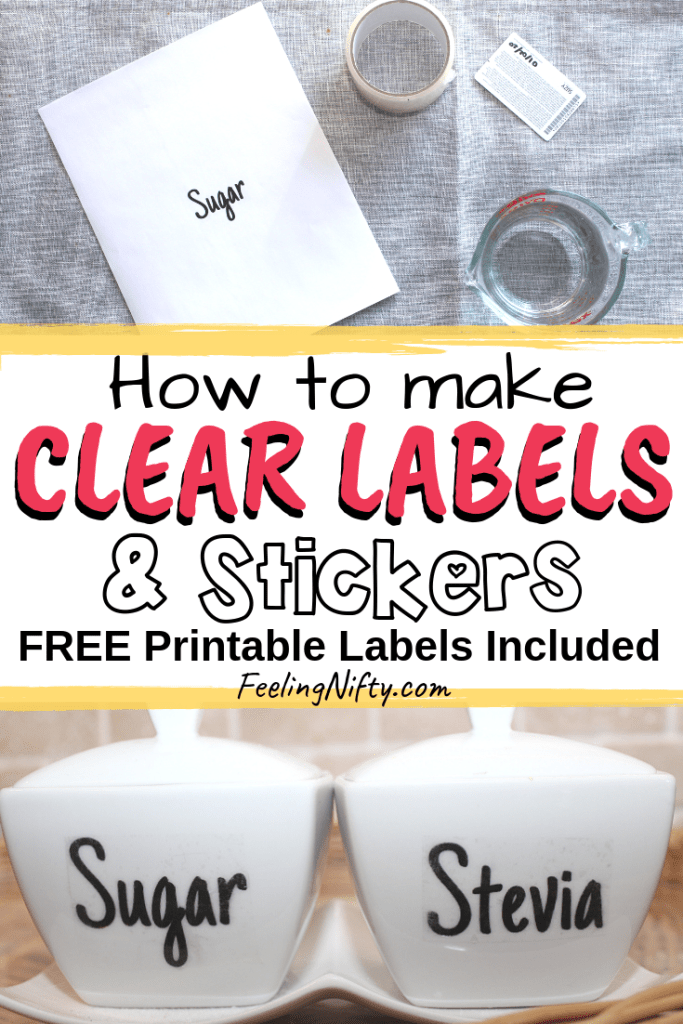 The Easiest Way to Make Clear Stickers - DIY Clear Labels for Jars