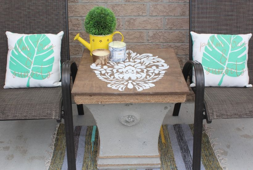 diy outdoor side table with storage