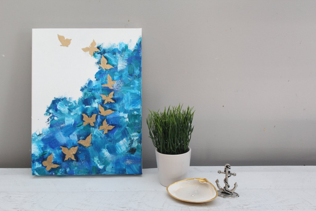 How To Paint A Butterfly Abstract Acrylic Painting For Beginners Easy