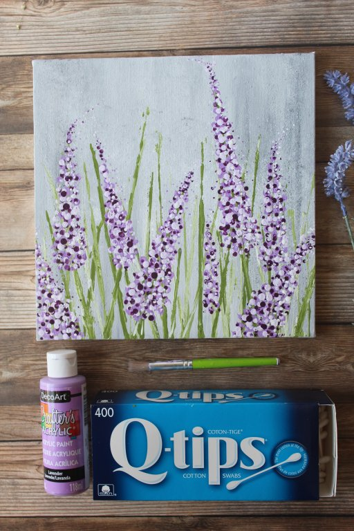 easy-lavender-painting-with-cotton-swabs-acrylic-1