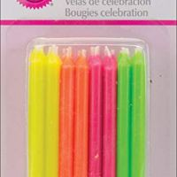 Wilton Birthday Candles, 2.5-Inch, Hot Colors, 24-Pack