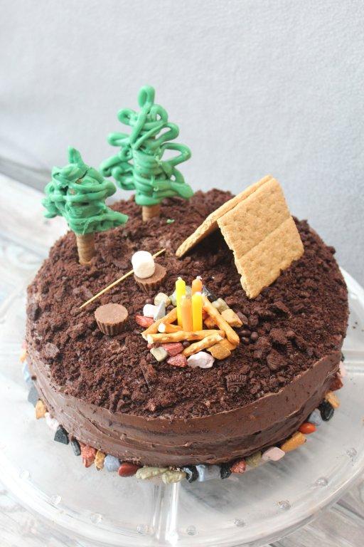 camping cake designs
