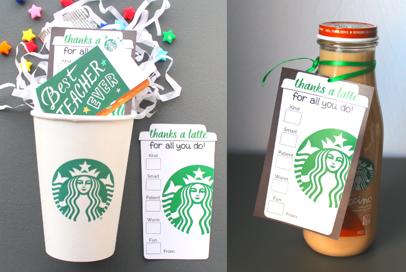 graphic about Thanks a Latte Printable Tag identified as 4 Uncomplicated \
