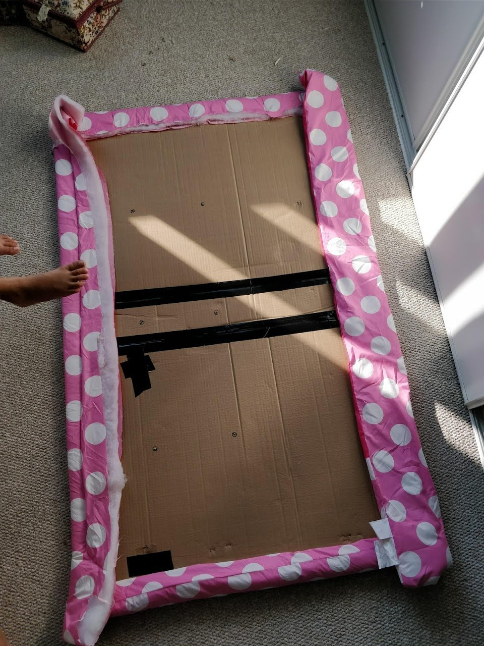 diy headboard for dorm bed