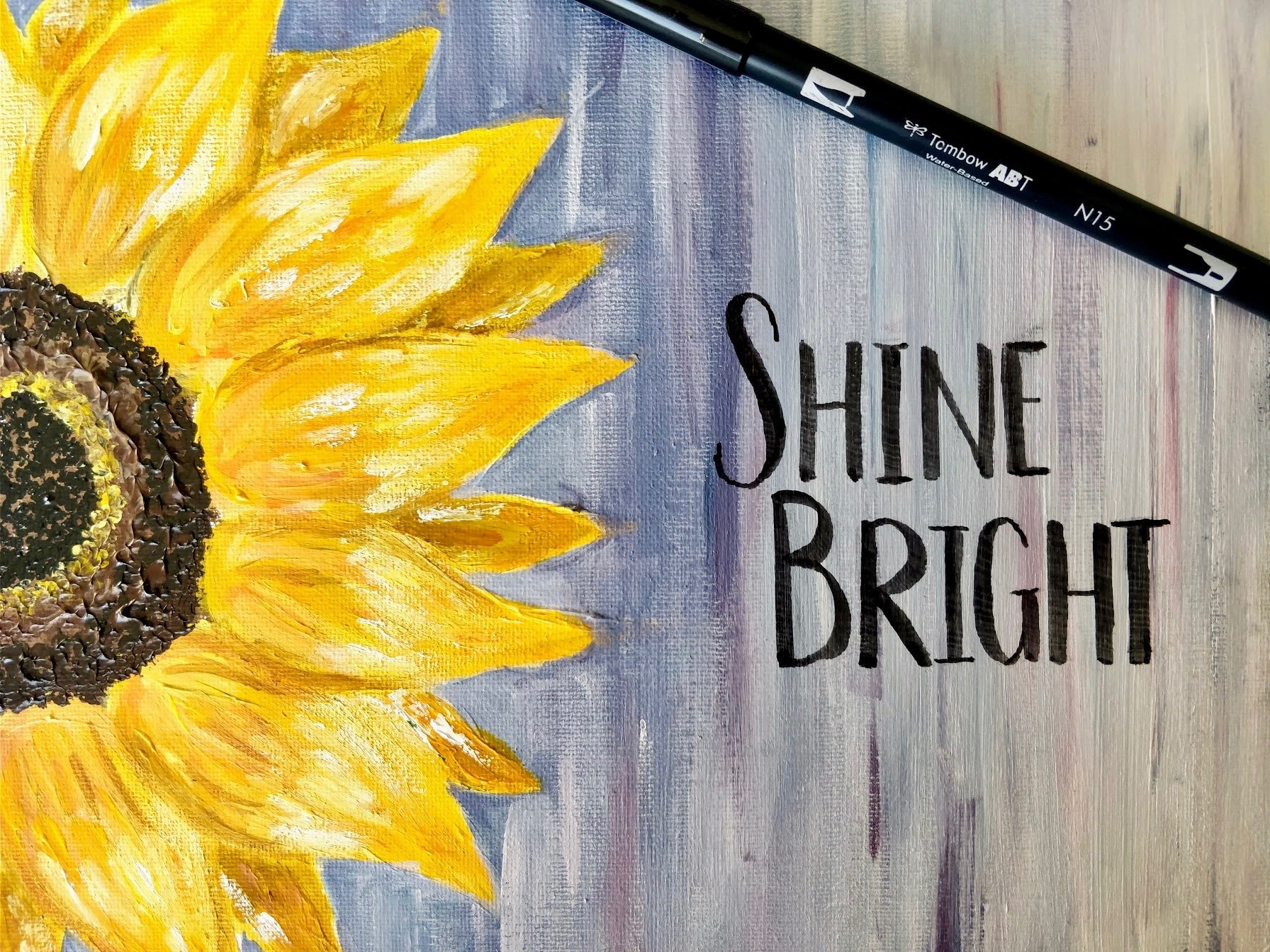 easy sunflower painting and drawing
