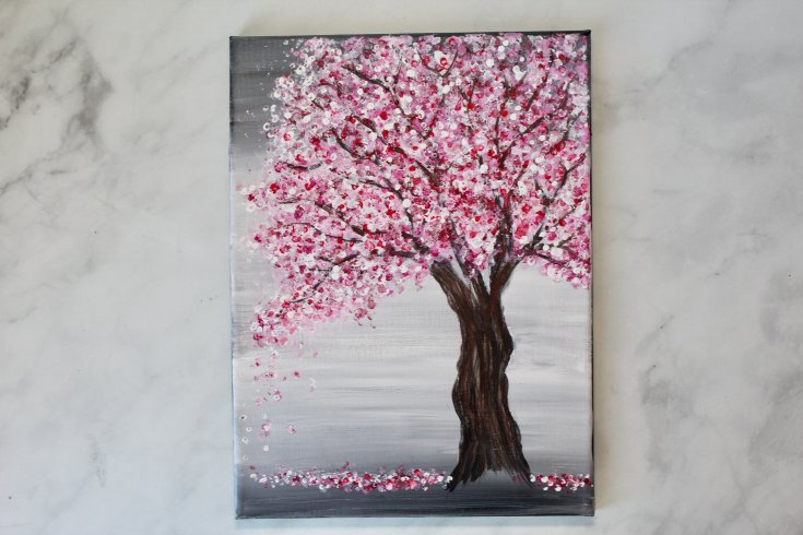 How to Paint an Easy Cherry Blossom Tree