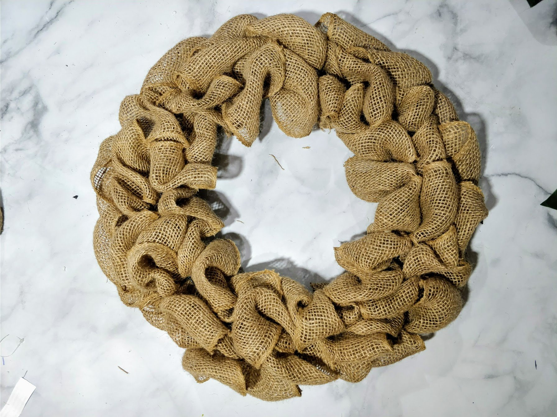 diy wreath burlap dollarstore