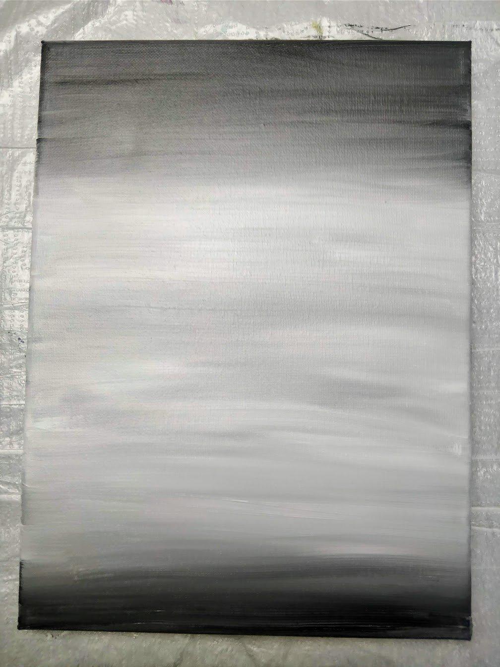 grey background landscape acrylic paint