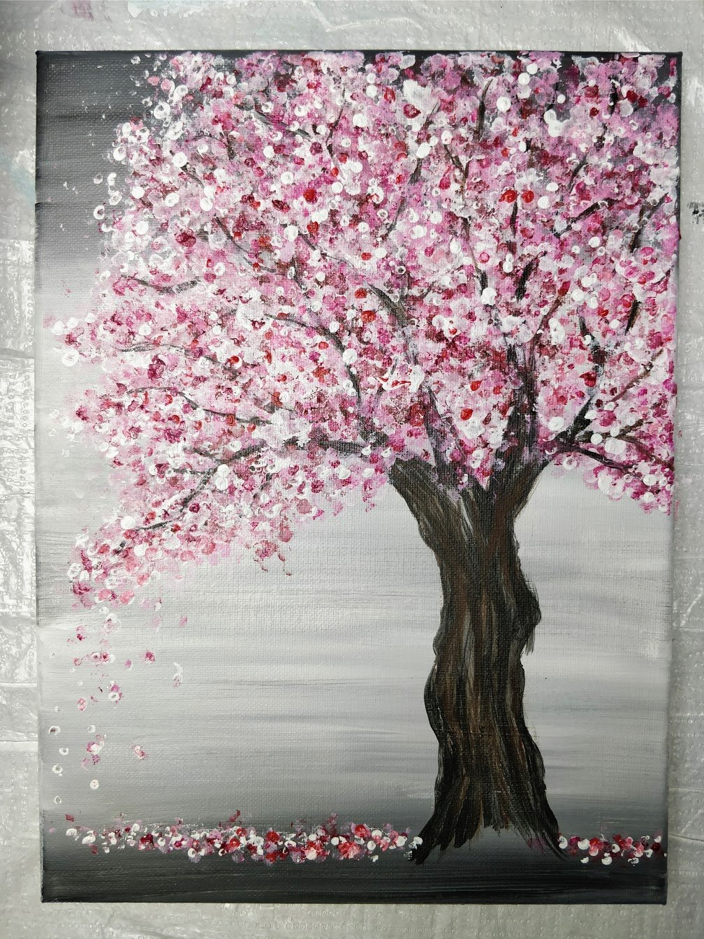 how to paint cherry blossom tree