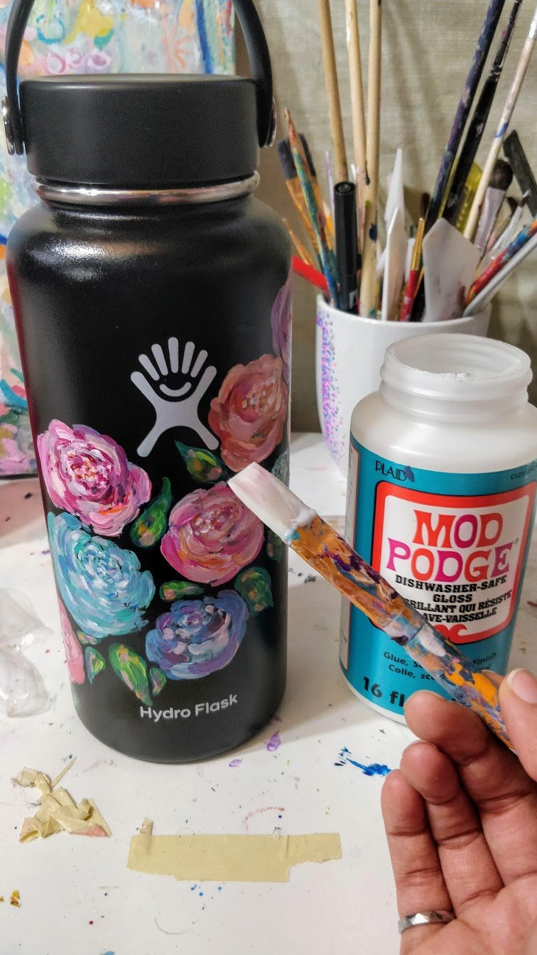 Can I Put Mod Podge Over Acrylic Paint : podge, acrylic, paint, Ultimate, Guide:, Paint, Hydro, Flask, Ideas