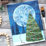 How To Paint A Christmas Tree On Canvas With One Stroke Technique