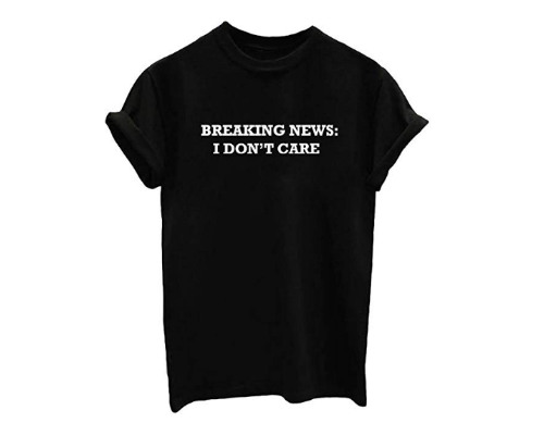 YITAN I don't care T-Shirt