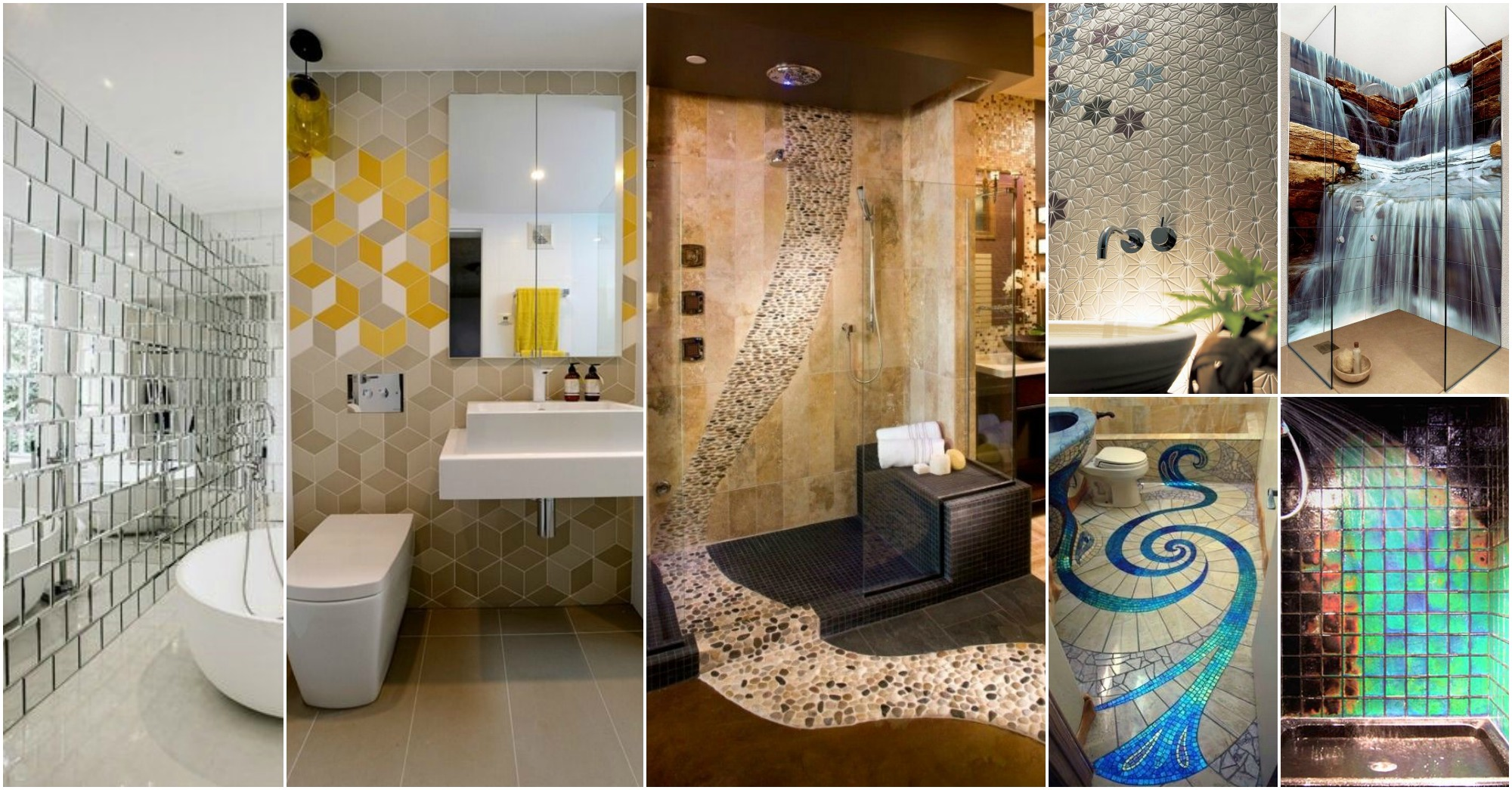 Wonderful  Cool Bathroom Tiles That Will Grab Your Attention