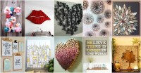 20 DIY Innovative Wall Art Decor Ideas That Will Leave You ...