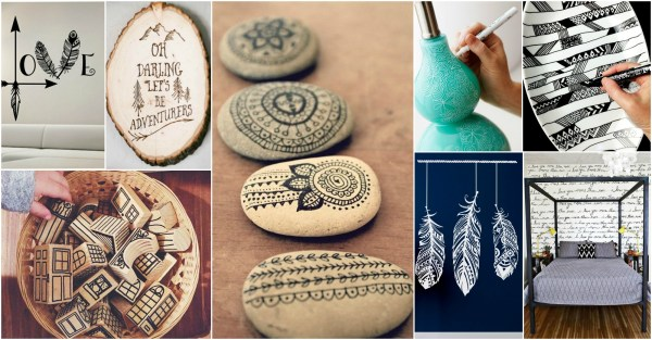 Diy Cool Collection Of Doodle Inspired Art Decor Home