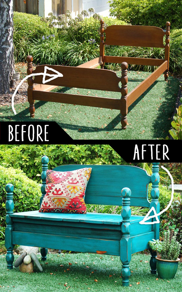 bed-turned-into-bench