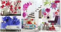 mural wallpaper trends for 2015. wall murals great flower ...