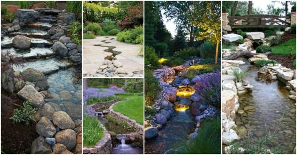 outstanding natural garden stream