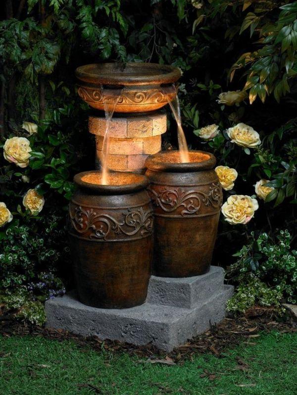 stunning garden water fountains