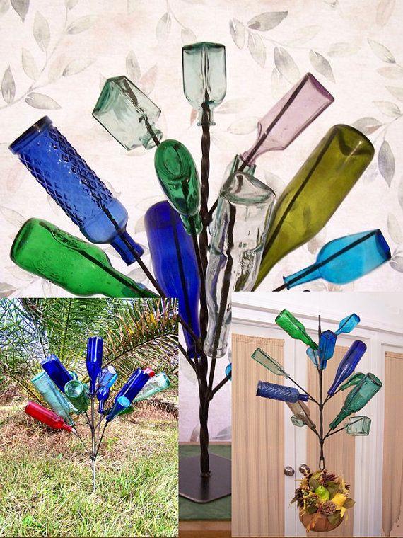 botellas de vino-jardín-decor5