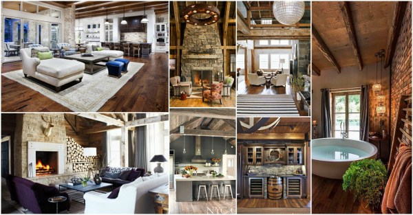 Chic Rustic Home Interiors Fall Love