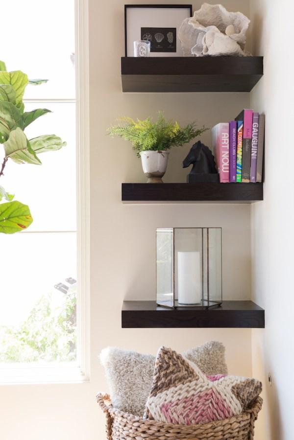 Corner Shelf Living Room Ideas