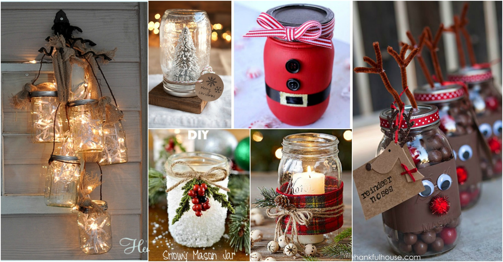 Easy Christmas Mason Jars Ideas That Everybody Can Make