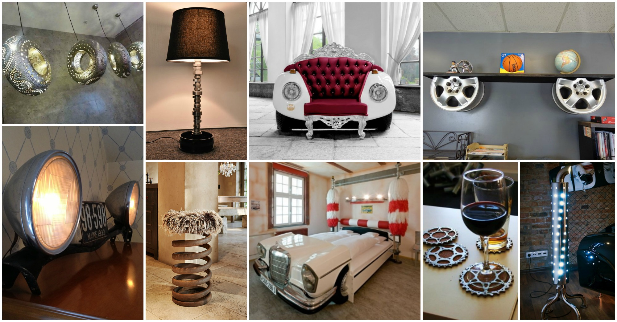 Fascinating Recycled Car Parts Ideas That Will Blow Your Mind