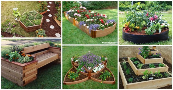 impressive diy flower beds
