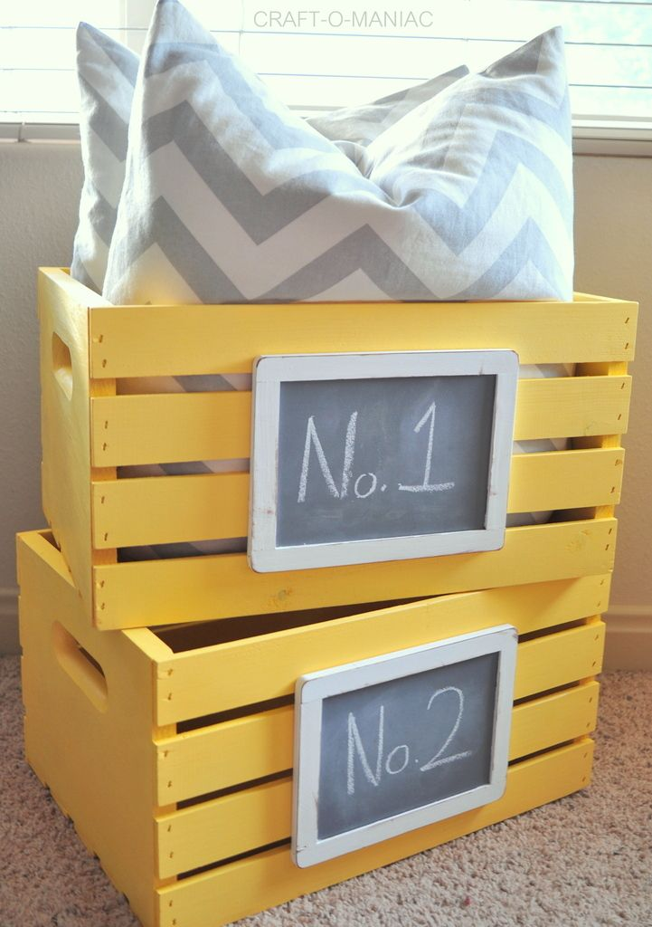 Diy Colored Wooden Crates That Will Make Your Life Livelier