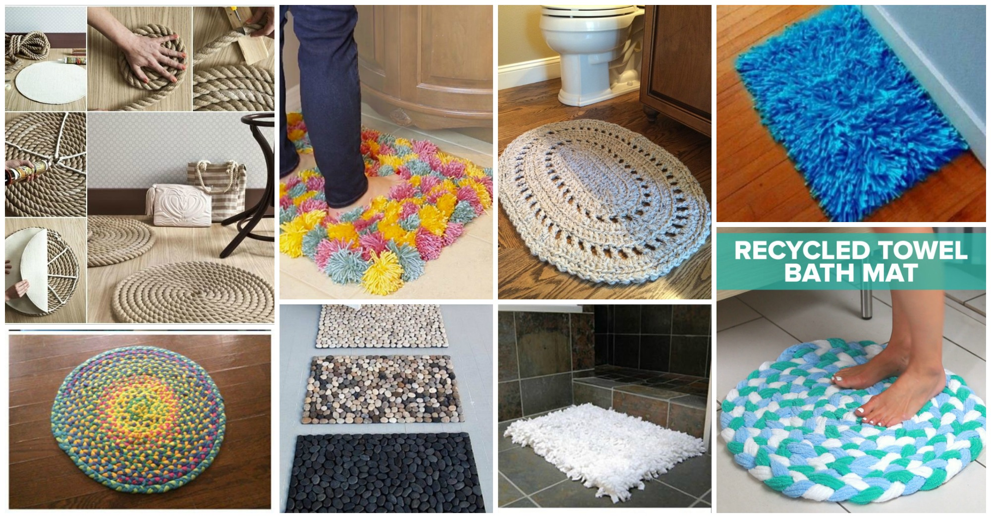 DIY Bathroom Rugs On A Budget  Picture Instructions