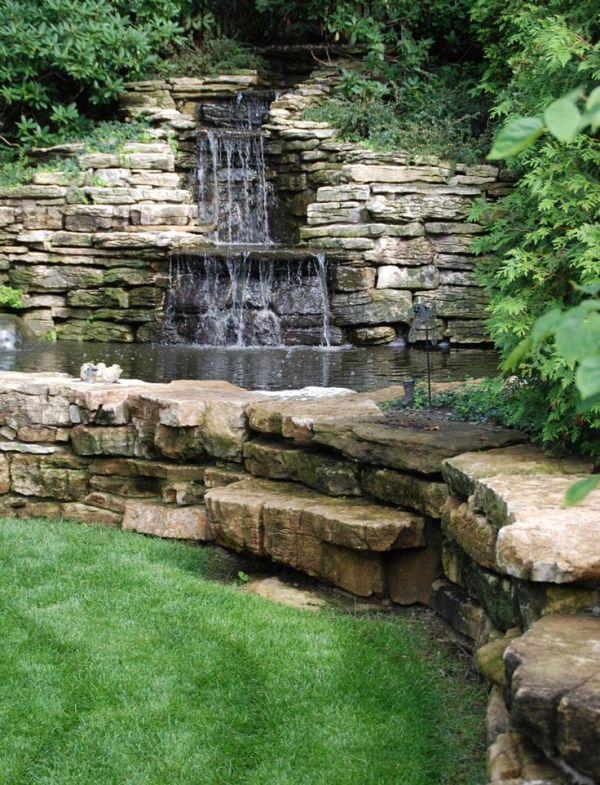 magnificent garden waterfalls