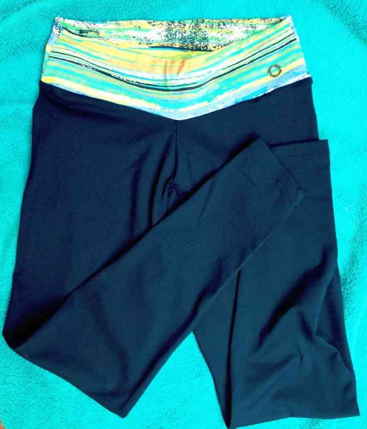 Palm Beach Athletic Wear chill capri pant tie dye blue