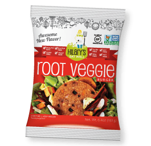 hilary's eat well review root veggie burger