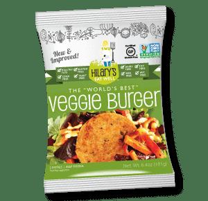 hilary's eat well world's best veggie burger