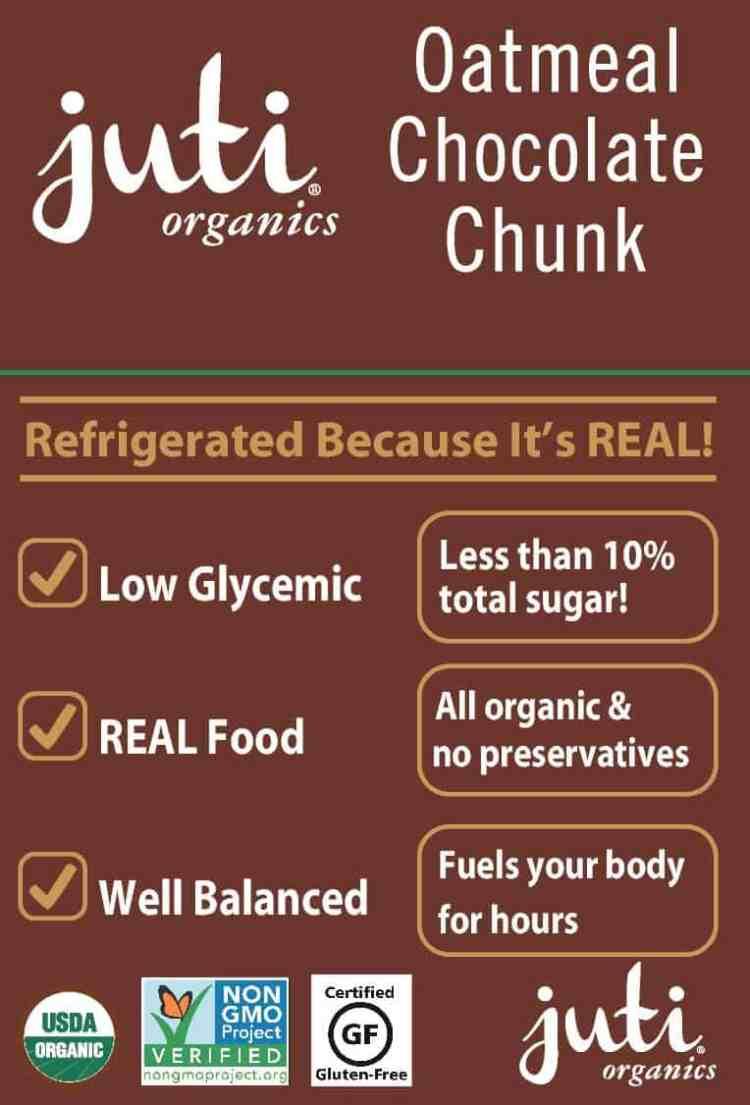 juti bar low glycemic gluten free