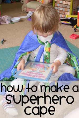how to make a superhero cape
