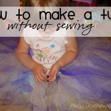 A little girl wearing a big tutu