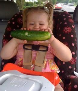 Nom nom nom! Cucumber!