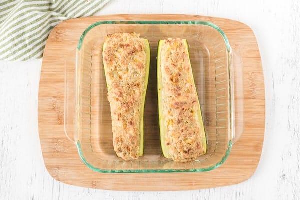 cooked stuffed zucchini