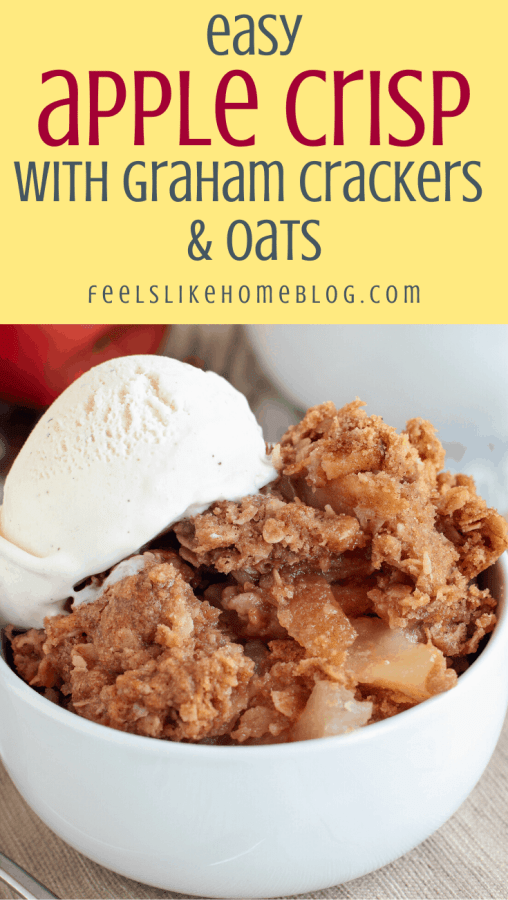 baked fruit with graham crackers and oats