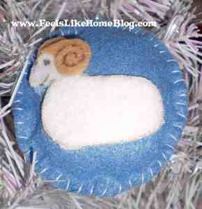 Isaac - Ram ornament